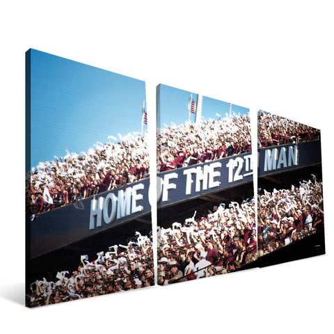 Texas A&M Aggies 12th Man Canvas Print