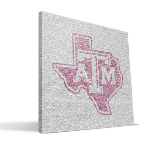 Texas A&M Aggies Typo Canvas Print