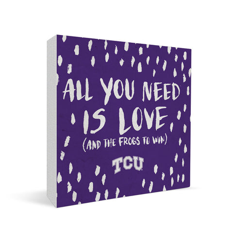 TCU Horned Frogs All You Need Square Shelf Block