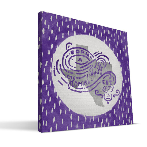 TCU Horned Frogs Born a Fan Canvas Print