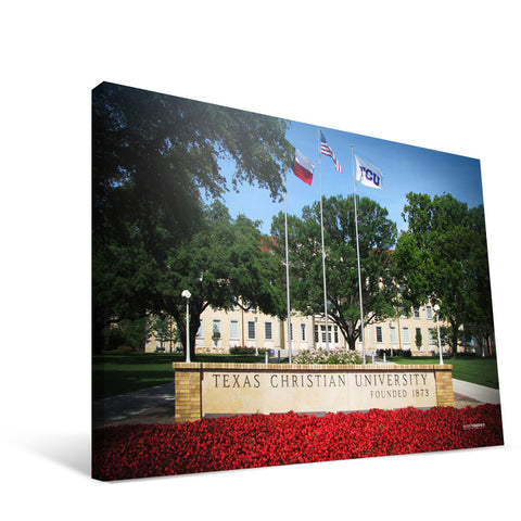 TCU Horned Frogs Campus Entry Canvas Print