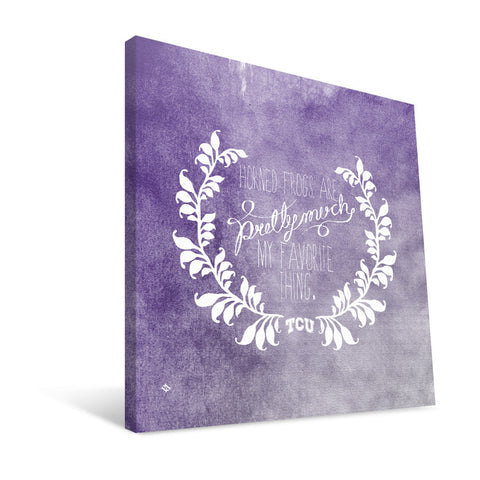 TCU Horned Frogs Favorite Thing Canvas Print