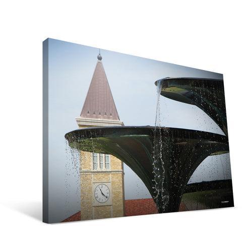 TCU Horned Frogs Fountain View Canvas Print