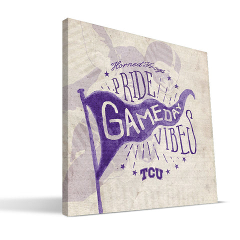 TCU Horned Frogs Gameday Vibes Canvas Print