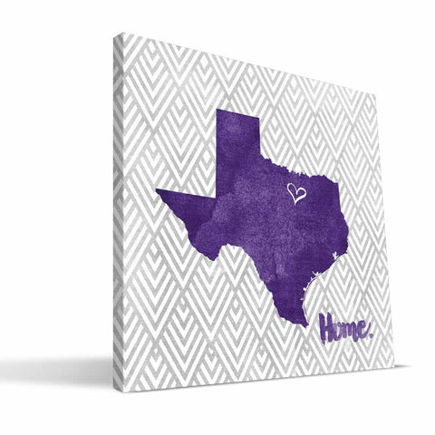 TCU Horned Frogs Home Canvas Print