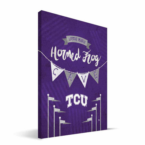 TCU Horned Frogs Little Man Canvas Print