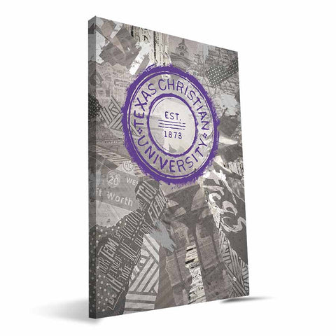 TCU Horned Frogs Scrapbook Canvas Print