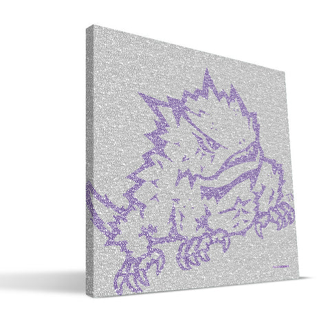 TCU Horned Frogs Typo Canvas Print