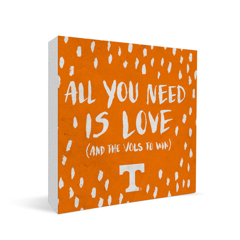 Tennessee Volunteers All You Need Square Shelf Block
