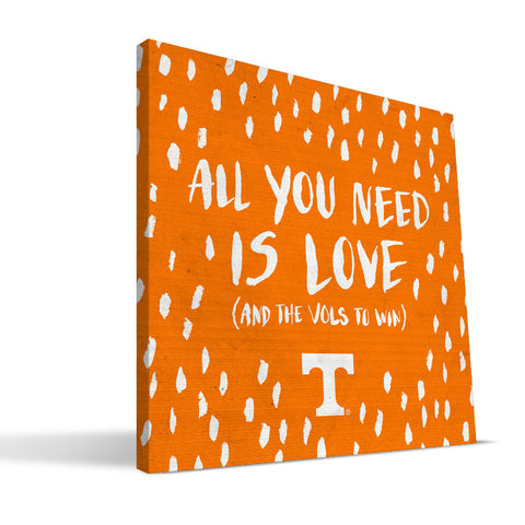 Tennessee Volunteers All You Need Canvas Print