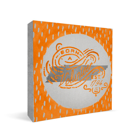 Tennessee Volunteers Born a Fan Square Shelf Block