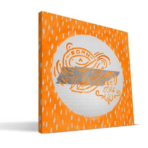 Tennessee Volunteers Born a Fan Canvas Print
