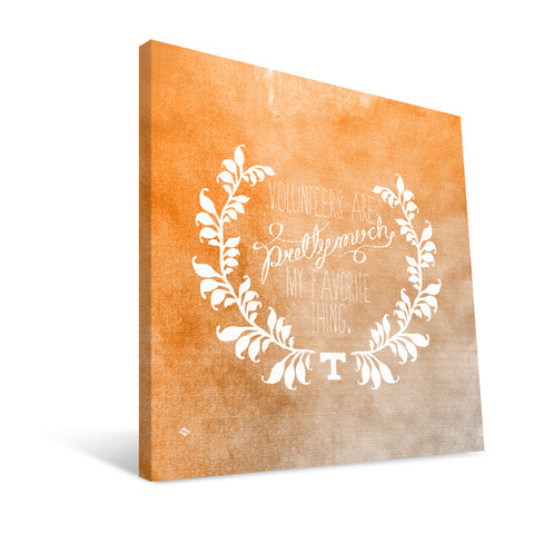 Tennessee Volunteers Favorite Thing Canvas Print