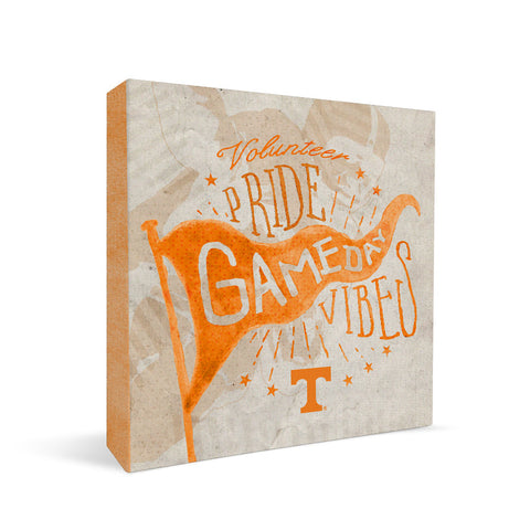 Tennessee Volunteers Gameday Vibes Square Shelf Block