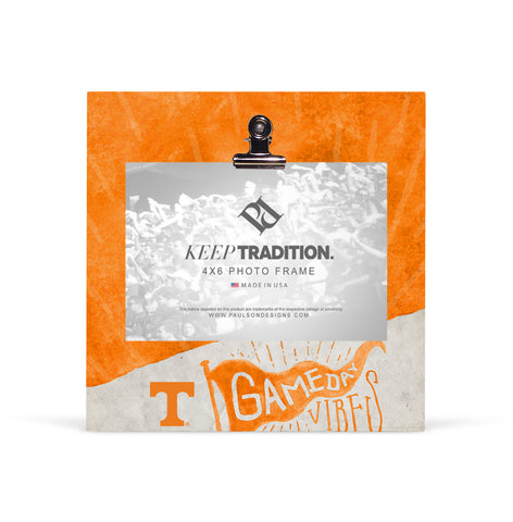 Tennessee Volunteers Gameday Vibes Picture Frame with Clip