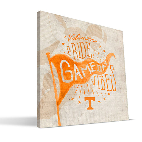 Tennessee Volunteers Gameday Vibes Canvas Print