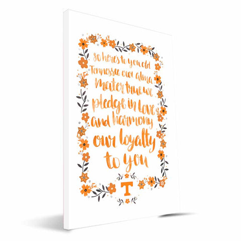 Tennessee Volunteers Hand-Painted Song Canvas Print