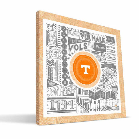 Tennessee Volunteers Pictograph Canvas Print