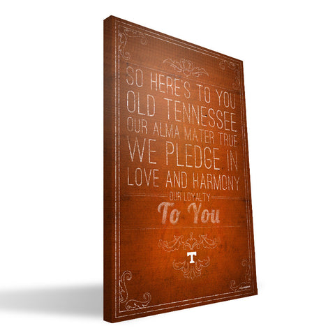 Tennessee Volunteers Song Canvas Print