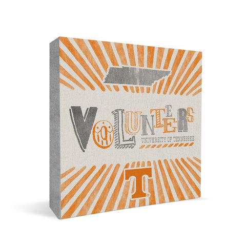 Tennessee Volunteers State Square Shelf Block