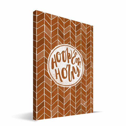 Texas Longhorns Geometric Canvas Print