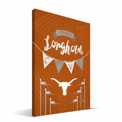 Texas Longhorns Little Man Canvas Print