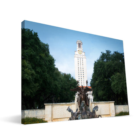 Texas Longhorns Littlefield Memorial Fountain Canvas Print