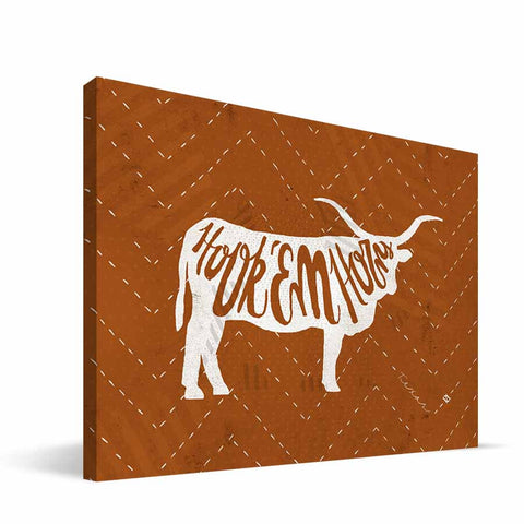 Texas Longhorns Mascot Canvas Print