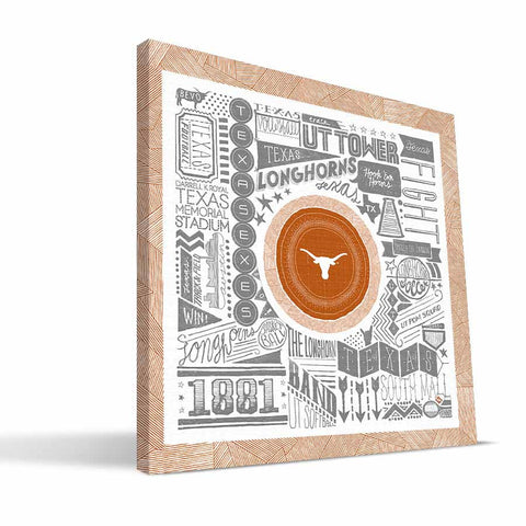 Texas Longhorns Pictograph Canvas Print