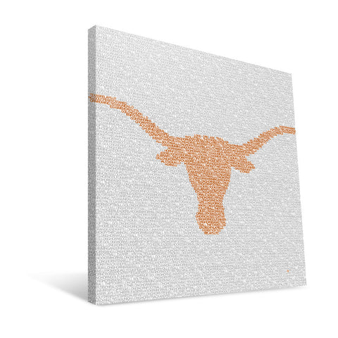 Texas Longhorns Typo Canvas Print