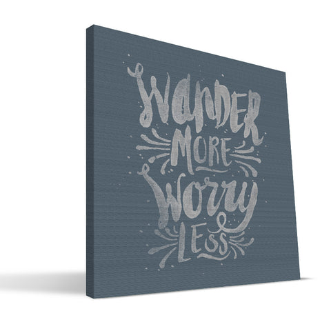 Wander More Worry Less Canvas Print