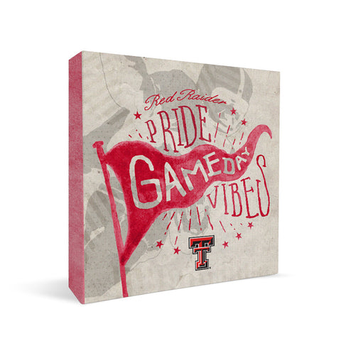 Texas Tech Red Raiders Gameday Vibes Square Shelf Block