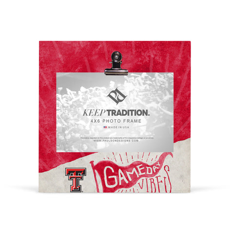 Texas Tech Red Raiders Gameday Vibes Picture Frame with Clip