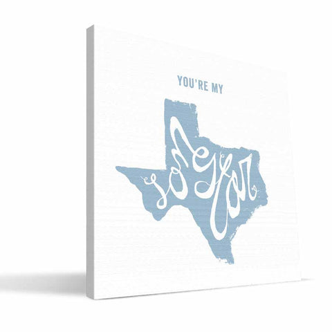 Texas State Motto Canvas Print