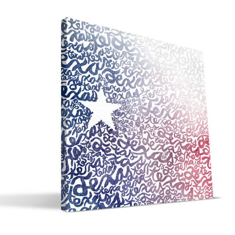 Texas Watercolor Canvas Print