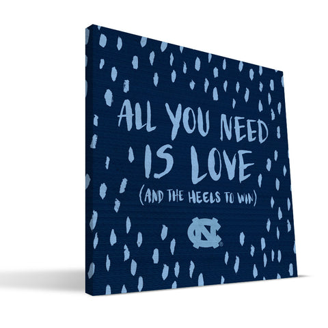 North Carolina Tar Heels All You Need Canvas Print