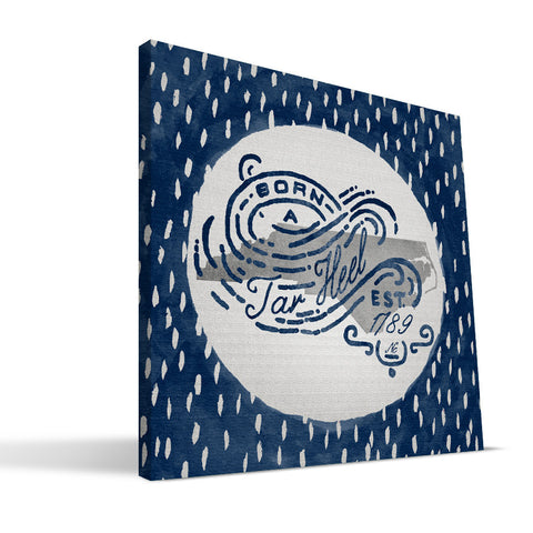 North Carolina Tar Heels Born a Fan Canvas Print