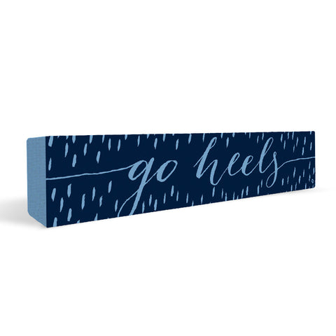 North Carolina Tar Heels Rally Cry Brush Mark Rectangular Shelf Block