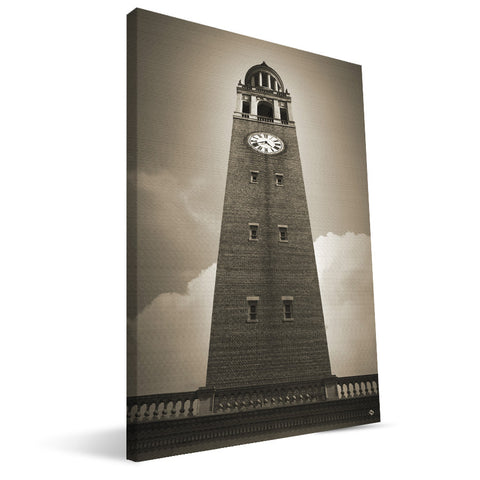 North Carolina Tar Heels Clock Tower Canvas Print