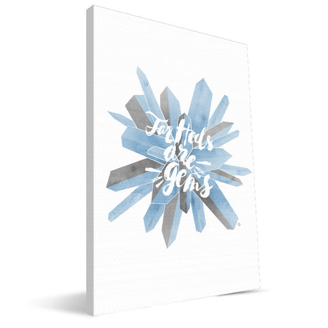 North Carolina Tar Heels Gem Canvas Print