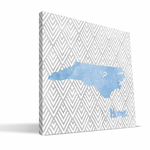 North Carolina Tar Heels Home Canvas Print