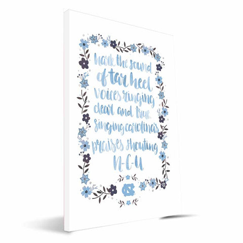 North Carolina Tar Heels Hand-Painted Song Canvas Print