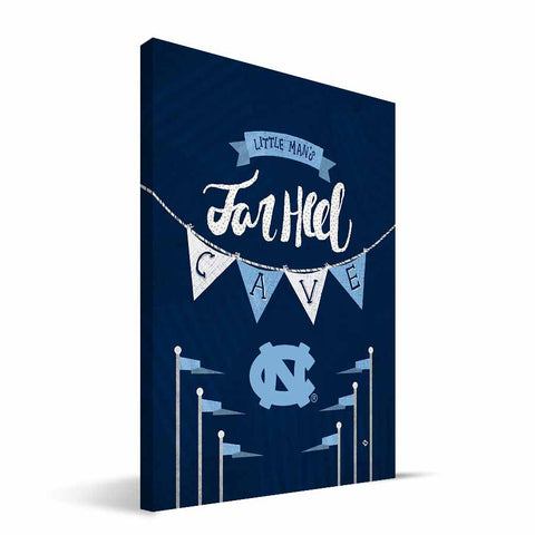 North Carolina Tar Heels Little Man Canvas Print