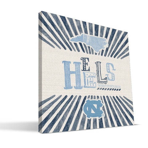 North Carolina Tar Heels State Canvas Print