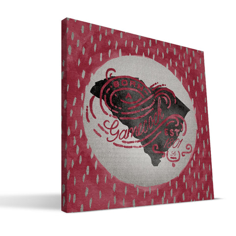 South Carolina Gamecocks Born a Fan Canvas Print