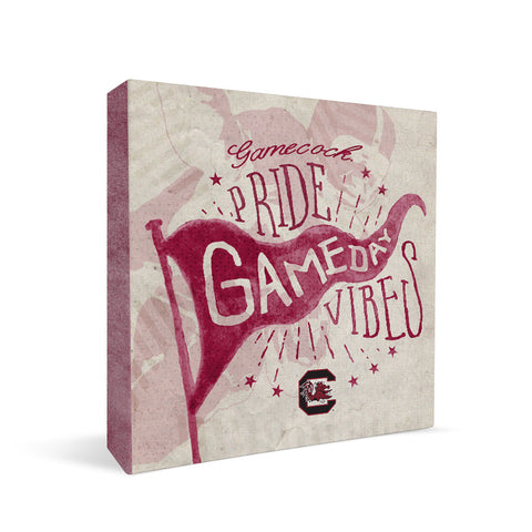 South Carolina Gamecocks Gameday Vibes Square Shelf Block