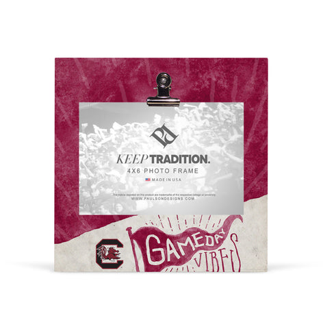 South Carolina Gamecocks Gameday Vibes Picture Frame with Clip