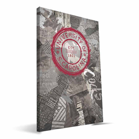 South Carolina Gamecocks Scrapbook Canvas Print