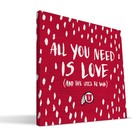 Utah Utes All You Need Canvas Print