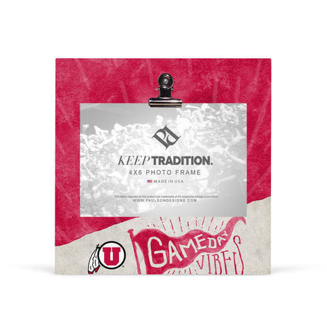 Utah Utes Gameday Vibes Picture Frame with Clip